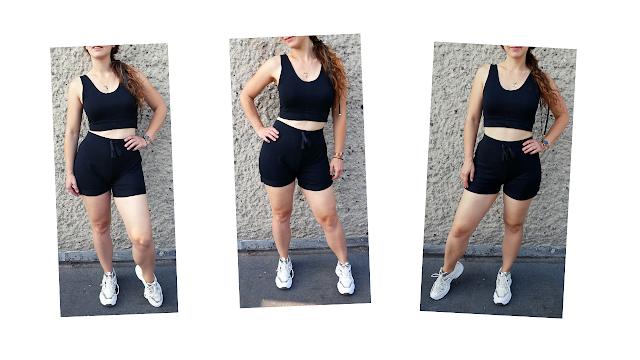 Sweat Shorts and Top | Matching Set From Sweatpants |joggers refashion  | diy spodnie dresowe w zestaw