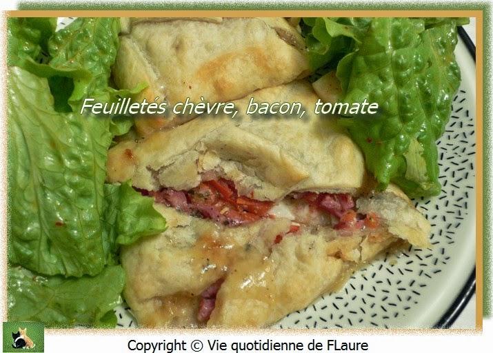 Vie quotidienne de FLaure: Feuilletés chèvre, bacon, tomate