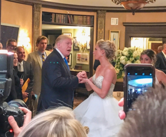 Trump crashes a wedding