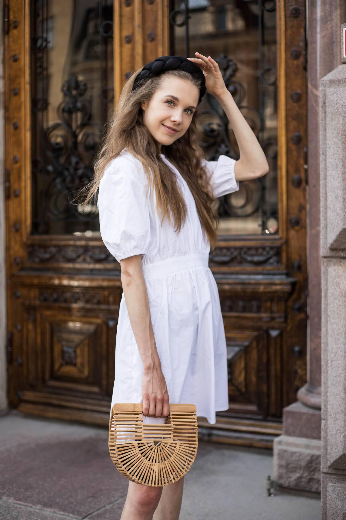 Inspiraatiota kesäpukeutumiseen: valkoinen mekko ja lettipanta // Summer outfit inspiration: white dress and braided headband