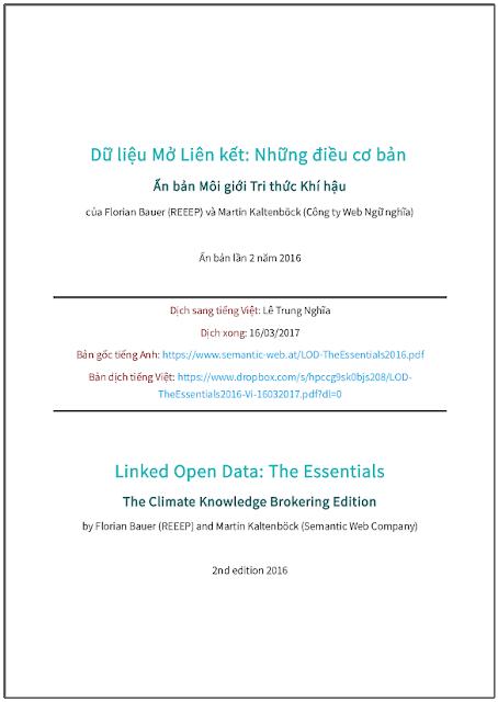 'Dữ liệu Mở Liên kết: Những điều cơ bản' - bản dịch sang tiếng Việt
