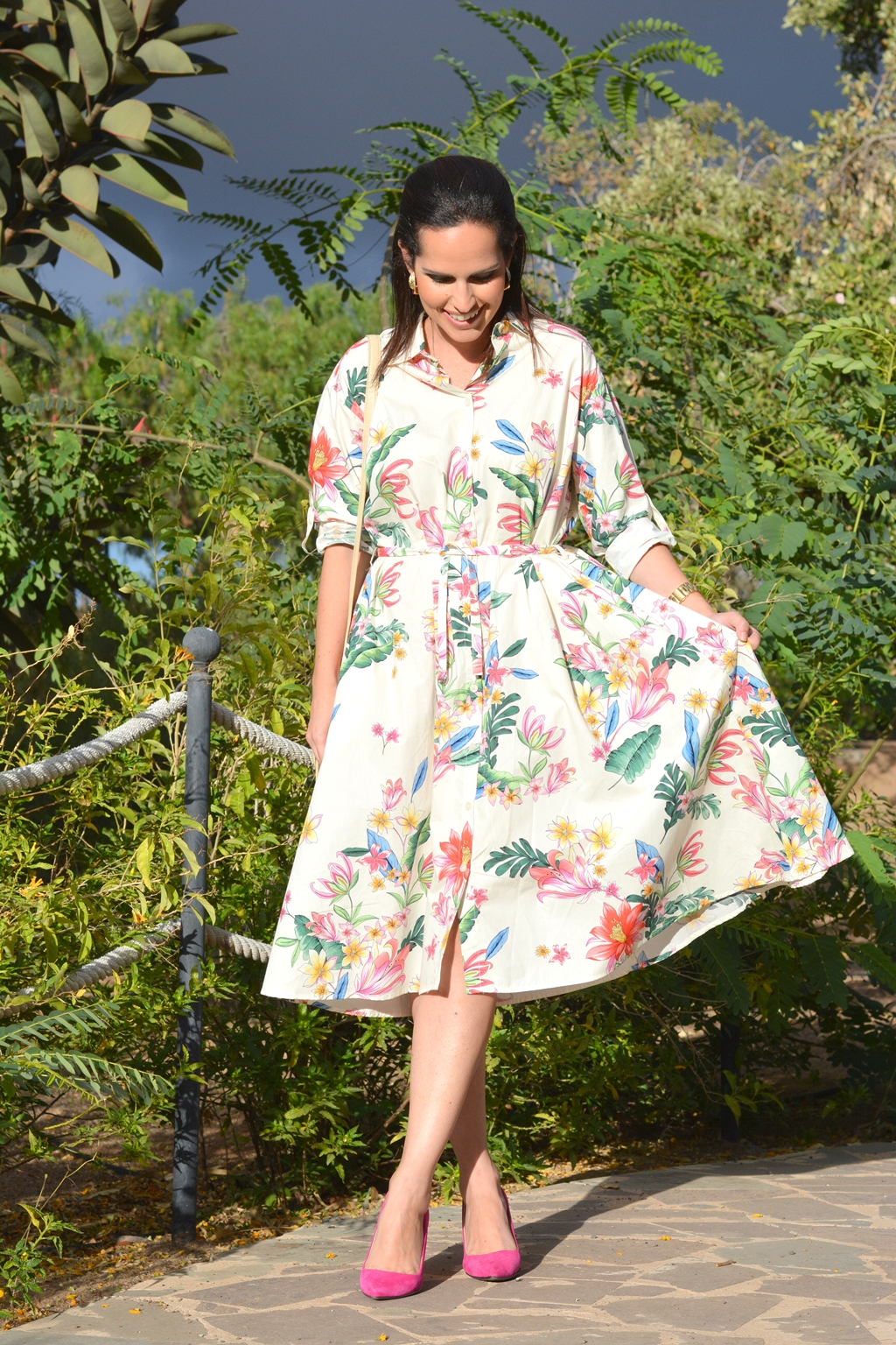 flowers-zara-dress-chic-outfit-daily-look