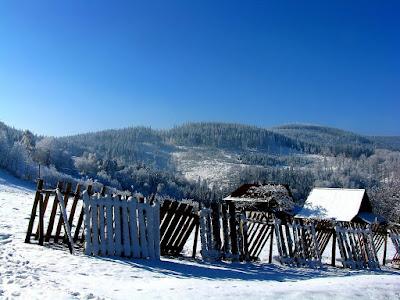 Stożek zimą
