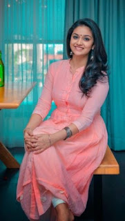 Keerthy Suresh in Pink Dress with Cute Smile