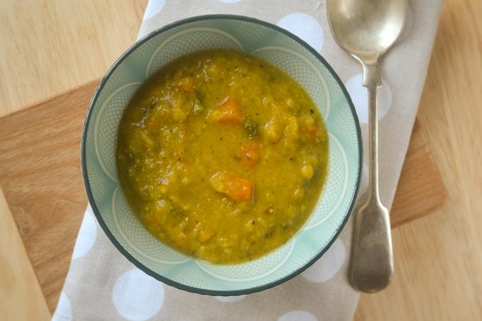 Spiced Carrot, Lentil & Kale Soup