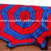 Spiderman inspired Crochet Blanket A Free Pattern