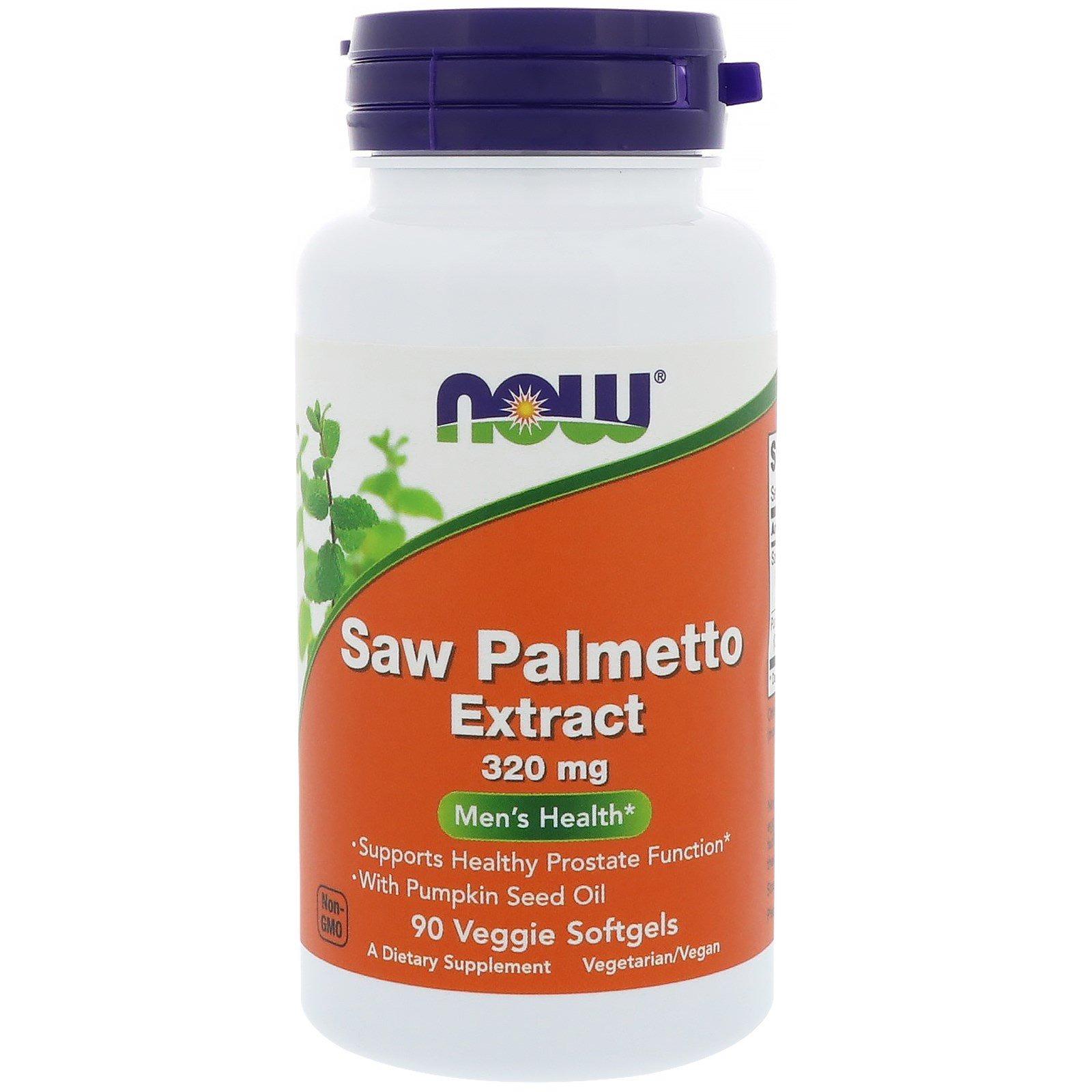 Now Foods, Экстракт пальмы сереноа, мужское здоровье, 320 мг, 90 растительных капсул