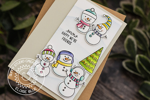 Sunny Studio Stamps: Feeling Frosty Winter Themed Friendship Card by Eloise Blue
