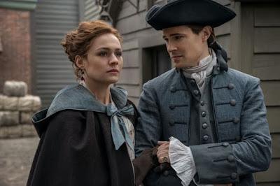 Lord Jhon y Bree en la cuarta temporada de Outlander