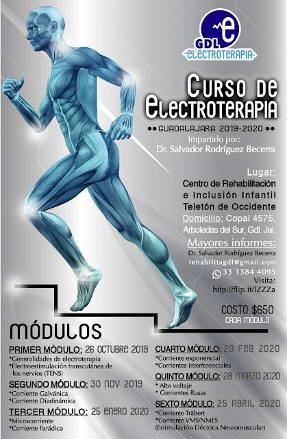 CURSO DE ELECTROTERAPIA GUADALAJARA CRIT OCCIDENTE - OCTUBRE 2019 - ABRIL 2020