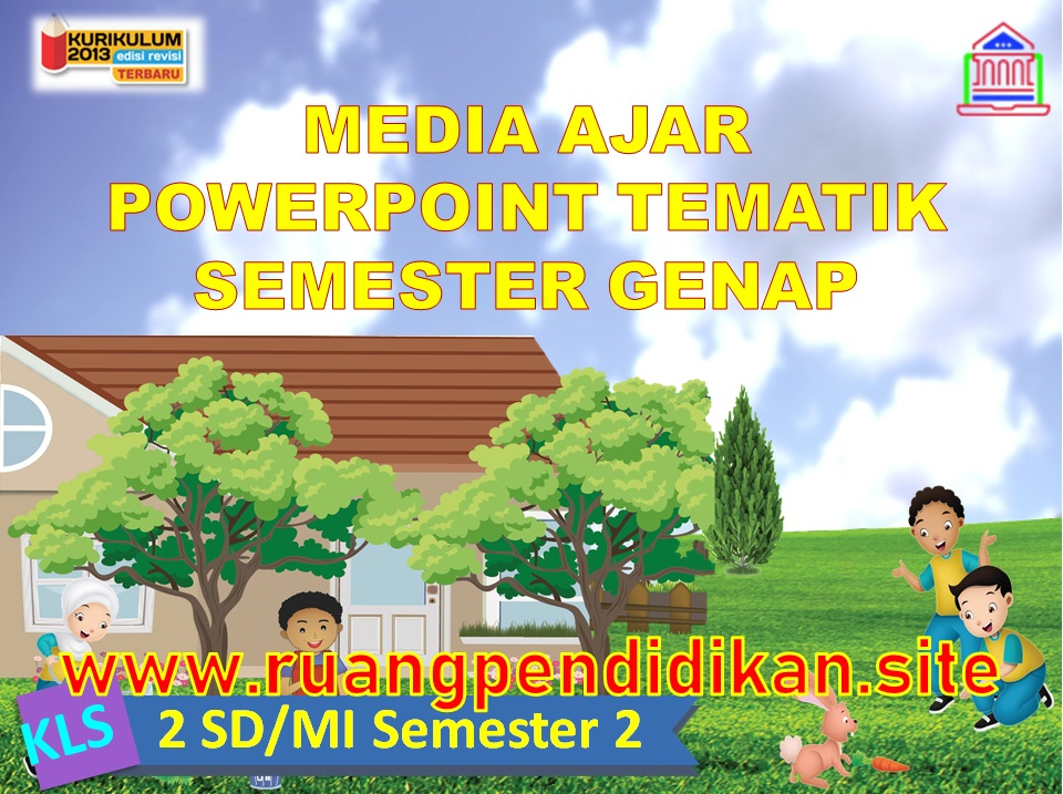 Media Ajar PowerPoint Tematik Semester 2 Kelas 2 SD/MI