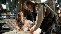 Molly's Game Jessica Chastain and Aaron Sorking Set Photo 1