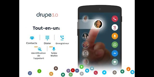 تنزيل contacts phone dialer: drupe مجانا