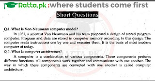 1st Year Computer Chapter 5 Short Questions pdf - ICS Part 1