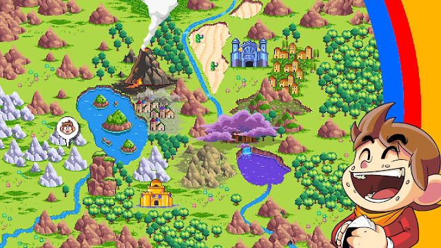 Alex Kidd in Miracle World DX - Mapa