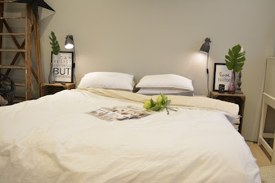 makuuhuone uusi ja vanha sisustus