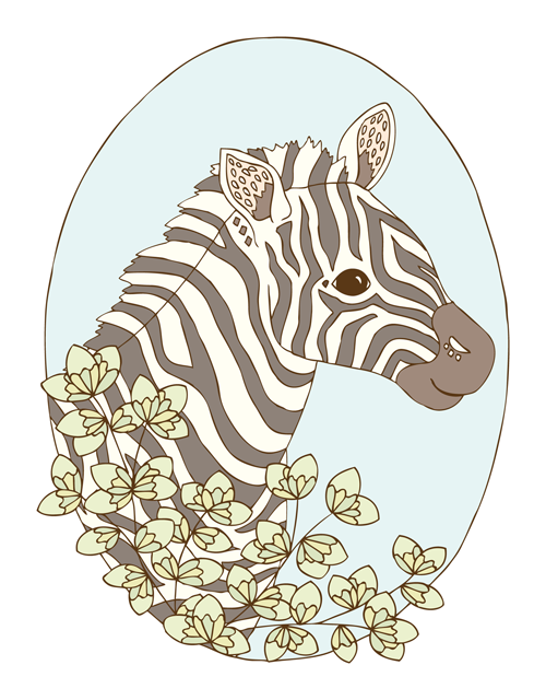 Emma Margaret Illustration Zebra 2016