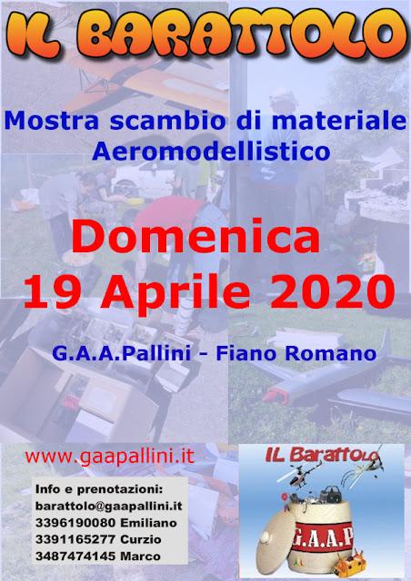 Mostra Scambio al G.A.A Pallini di materiale aereomodellistico