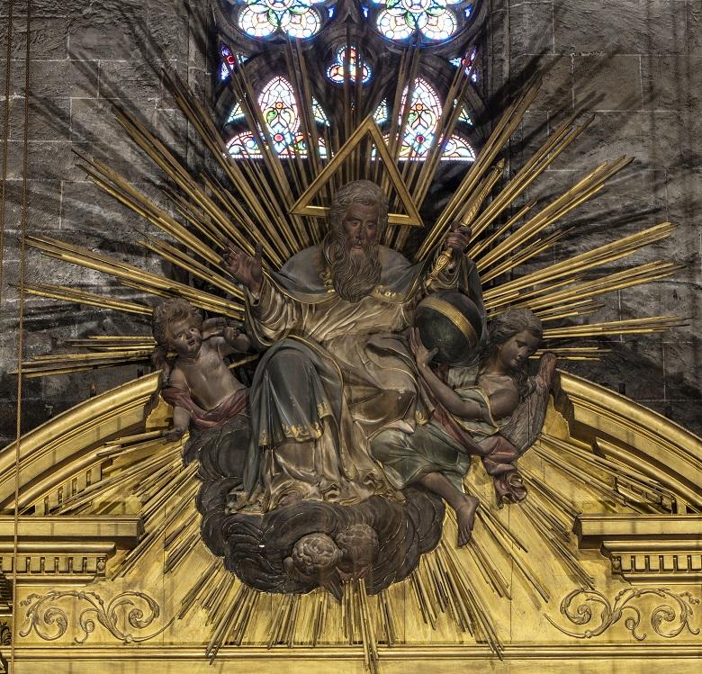 Deterioro del retablo de la iglesia de Santa Eulalia en Palma
