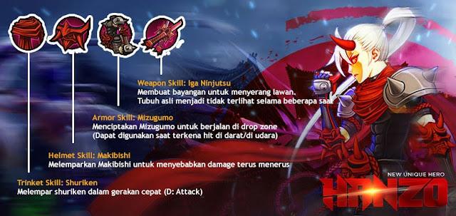 Skill Hero Hanzo Lost Saga Indonesia