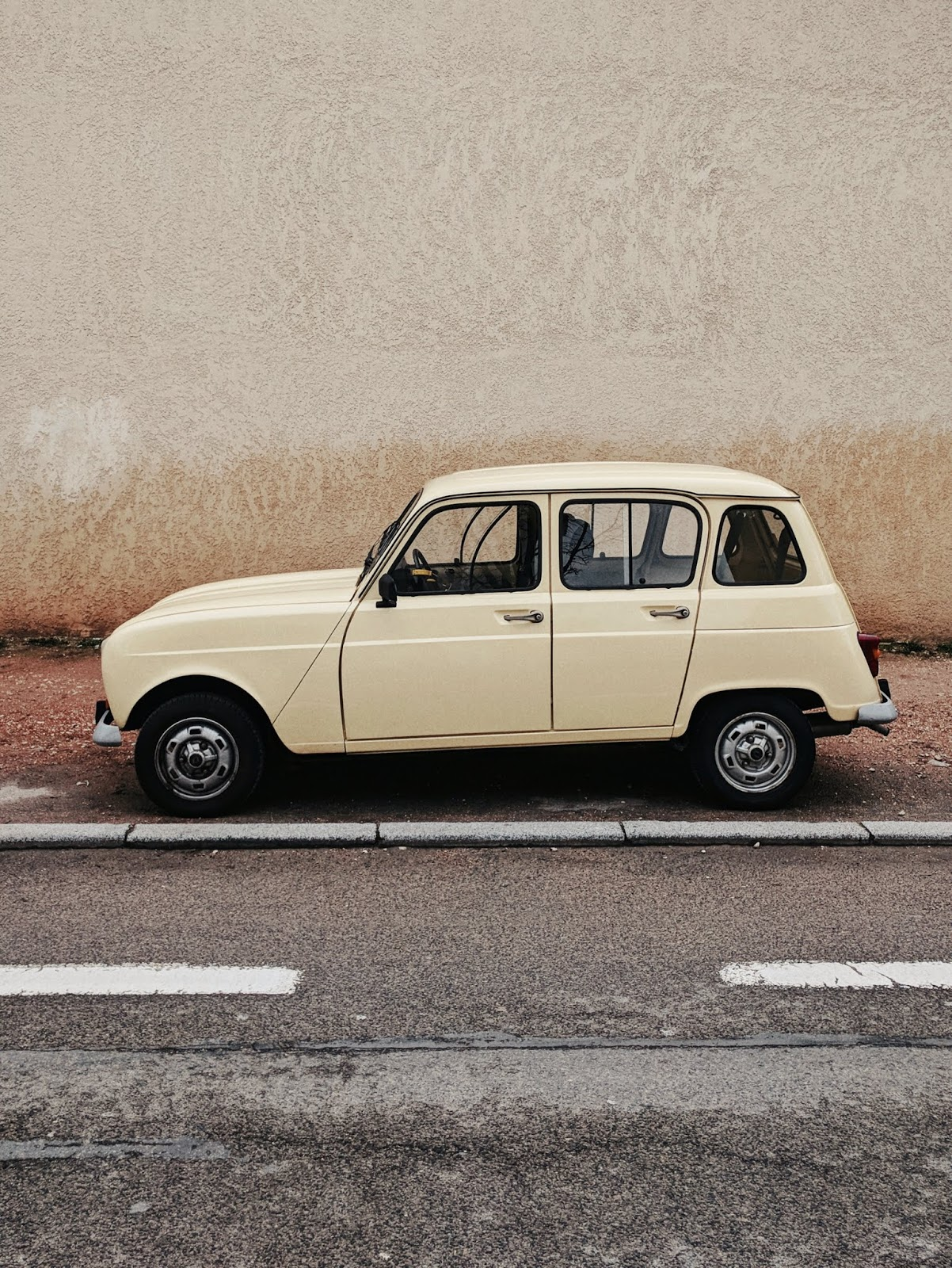 vintage yellow car