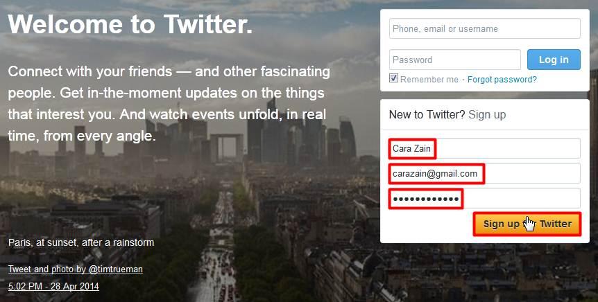 Cara Membuat Twitter Baru Gratis Daftar Akun Terbaru