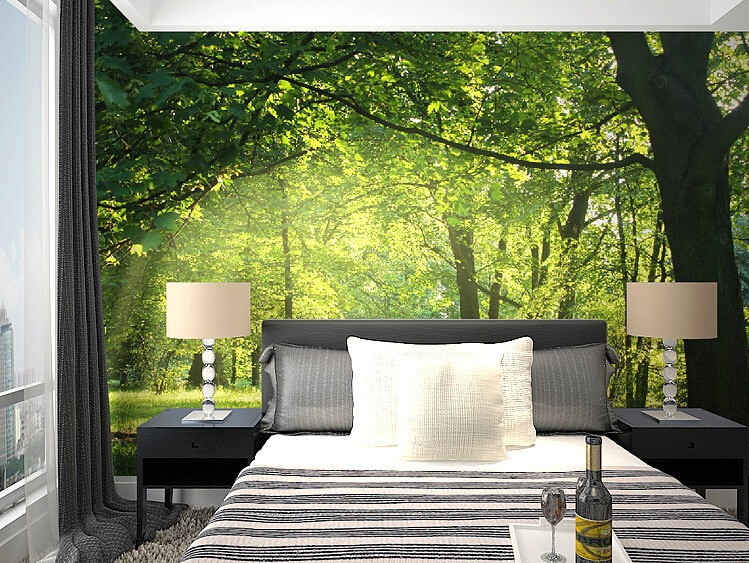 Foundation dezin decor 3d wallpapers for bedroom Nature bedroom