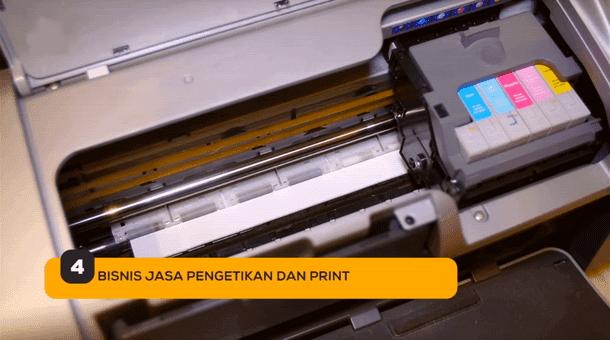 4. Bisnis Jasa Pengetikan dan Print