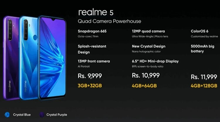 Realme 5 with Quad Cam and 5,000mAh Battery Now Official