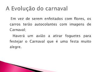 A Evolução do carnaval