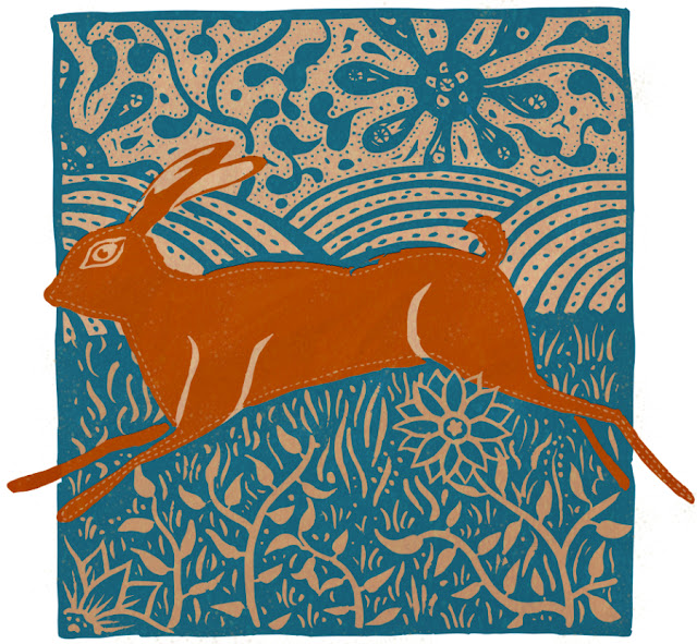 Here Hare Here. Archival giclee print on Hahnemuhle rag paper