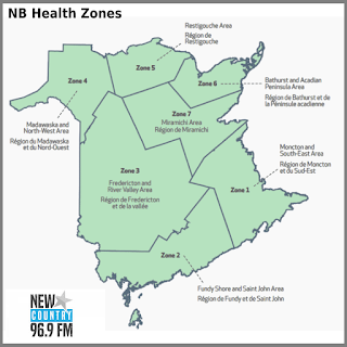NB Health Zones Map