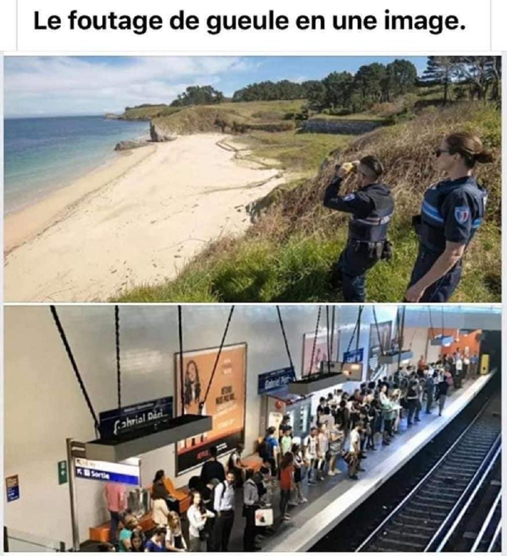 Confinement : Les forces de l'ordre traquent les plages interdites, quand les métros sont pleins de chez pleins !
