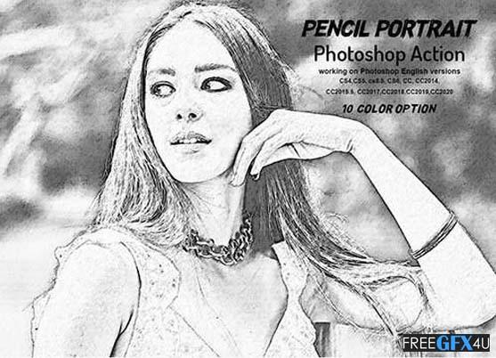 Pencil Portrait Photoshop Action
