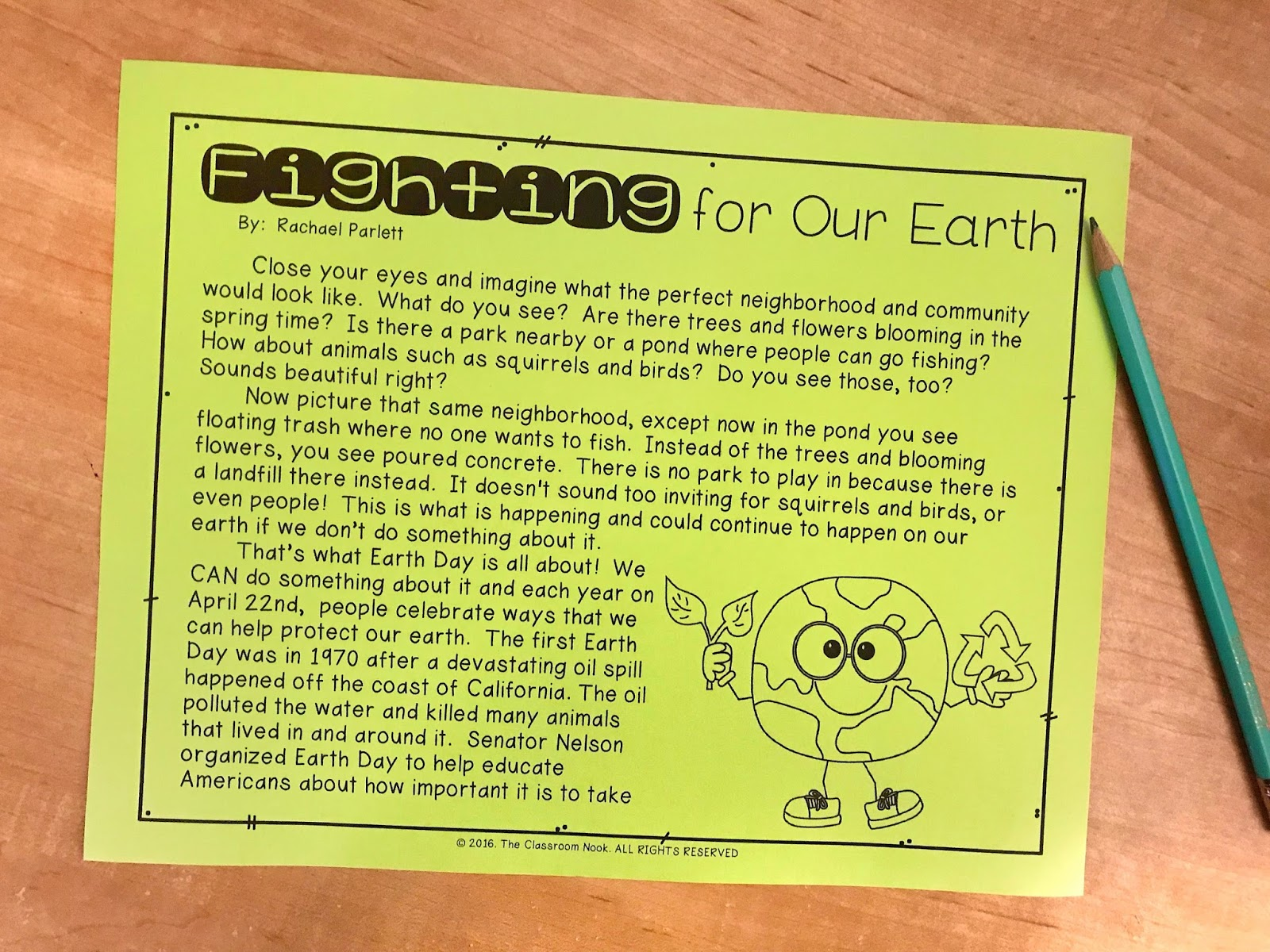 Use this article to introduce Earth Day to your students