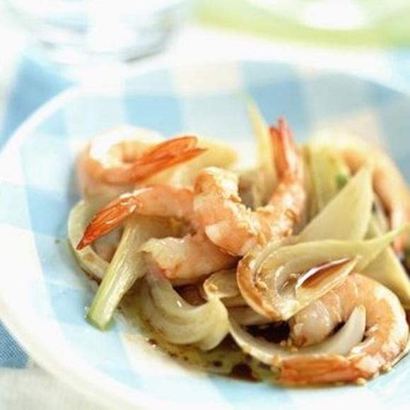 Crevettes Sautées Au Fenouil Et Au Sésame