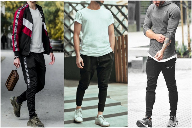 Men wearing different Athleisure outfits.