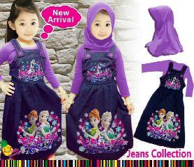 baju muslim overall anak perempuan frozen ungu umur 4 5 6 7 8 9 tahun kumpulan foto baju muslim anak perempuan umur 9 tahun,Model Baju Muslim Anak 1 Thn
