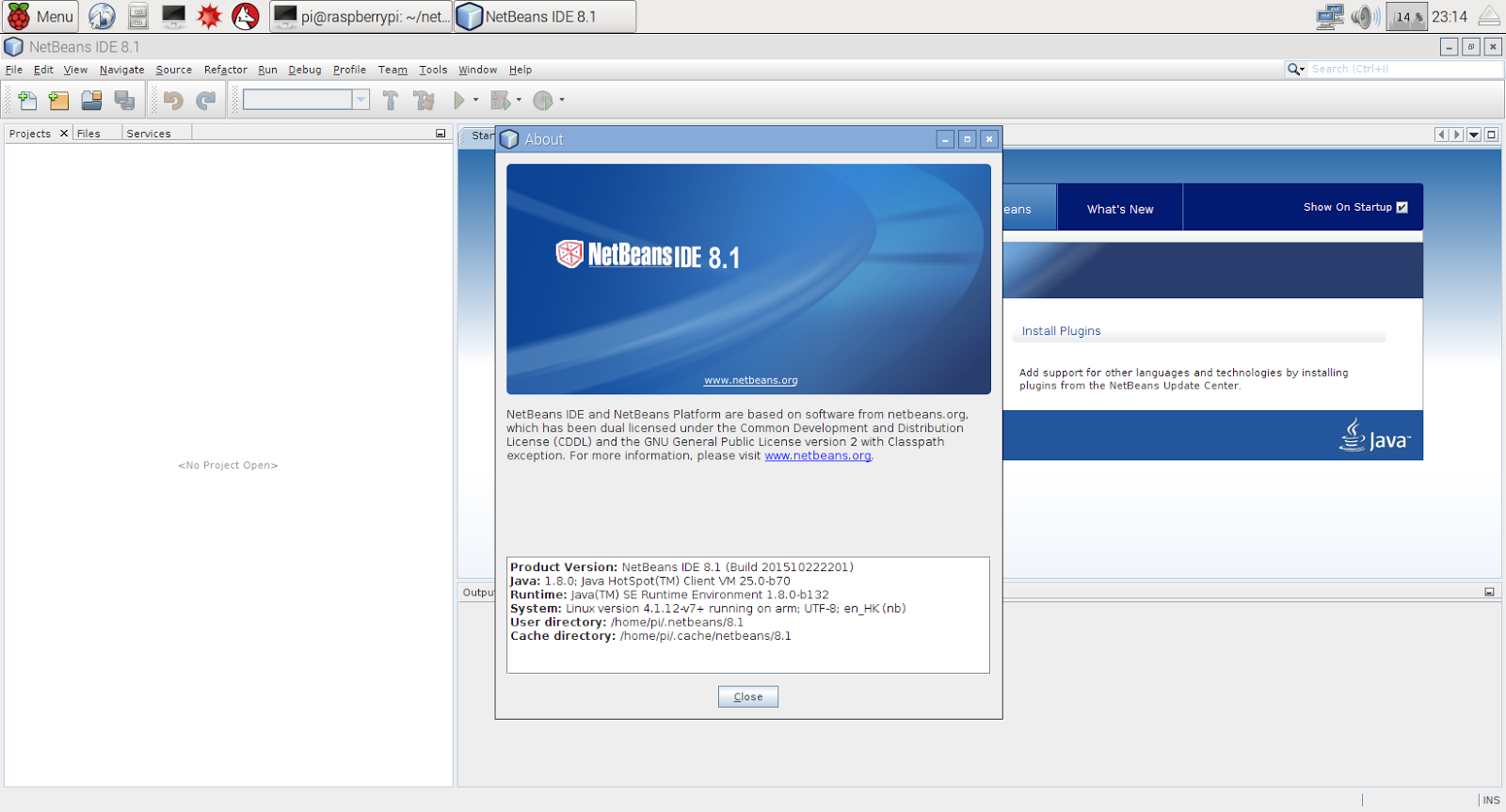 Hello Raspberry Pi: Download and Install Netbeans IDE 8 1 on