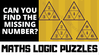 Maths Logic Puzzles: Can you find the value of the missing number?