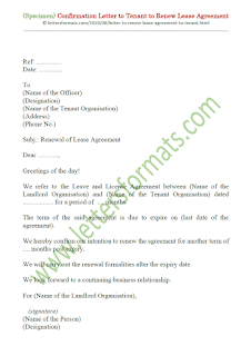 letter to renew lease agreement to tenant
