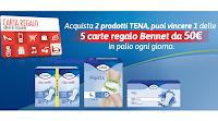 """Concorso """"Tena premia la tua spesa 2020"""" : in palio 70 Gift Card Bennet da 50 euro"""