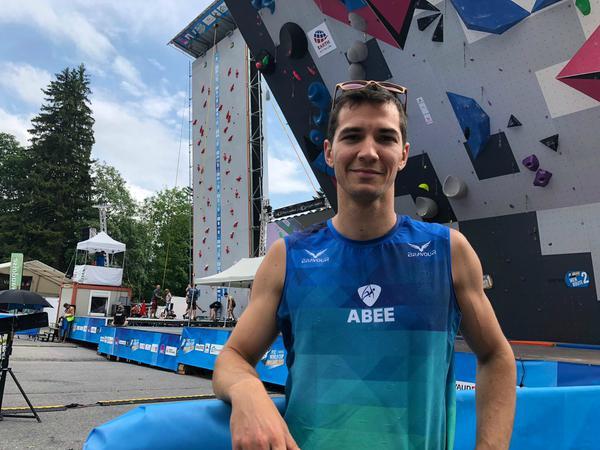 Cesar  Grosso foi bem no Pan, mas não se classificou para a Olimpíada na escalada esportiva