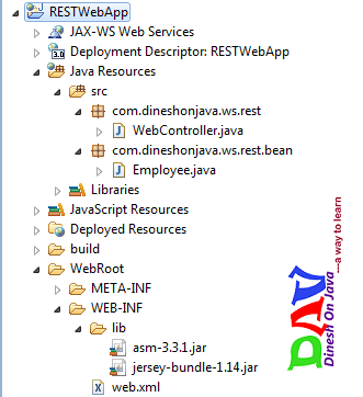 RESTful Web Services with Jersey JAX-RS on Tomcat 7