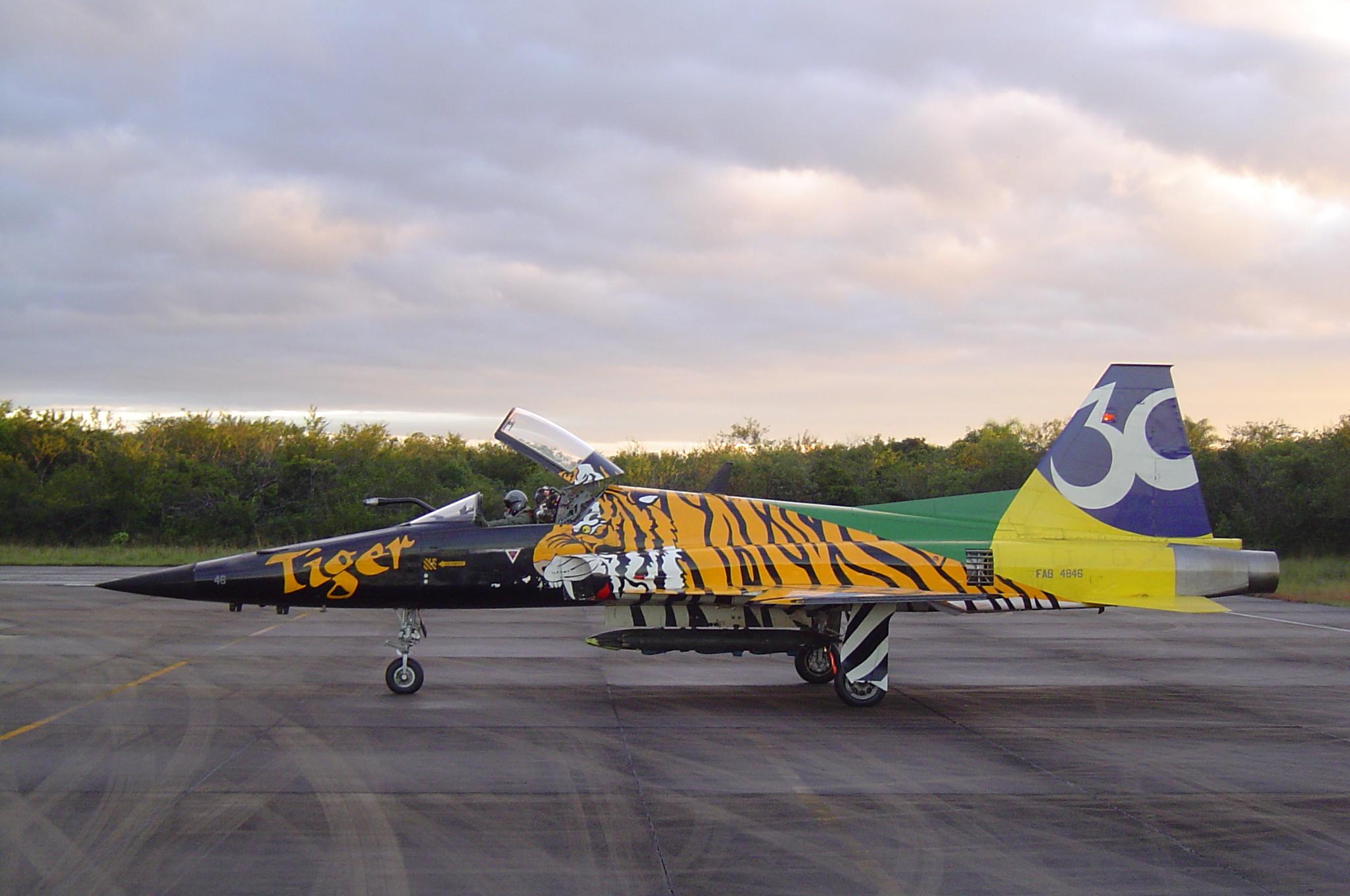 Northrop F-5 Tiger II com pintura comemorativa de 30 anos de operação na Força Aérea Brasileira