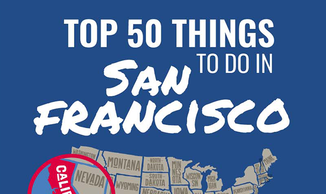 Top 50 Things to Do in San Francisco #infographic