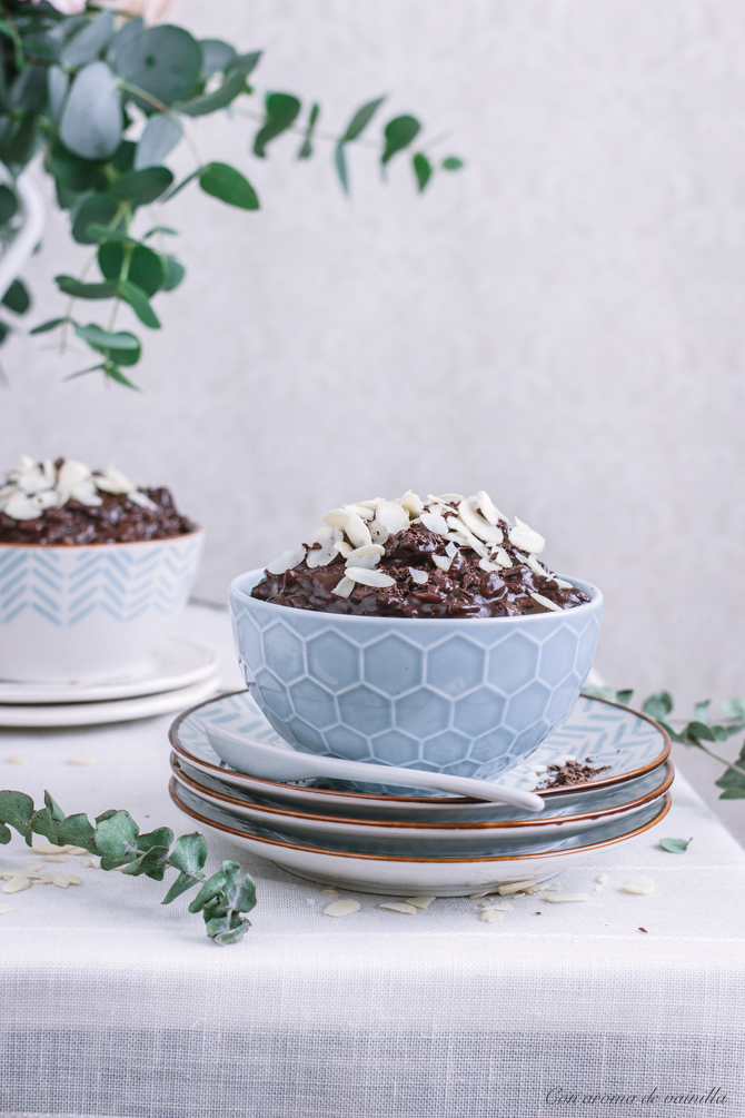 Risotto cremoso de chocolate