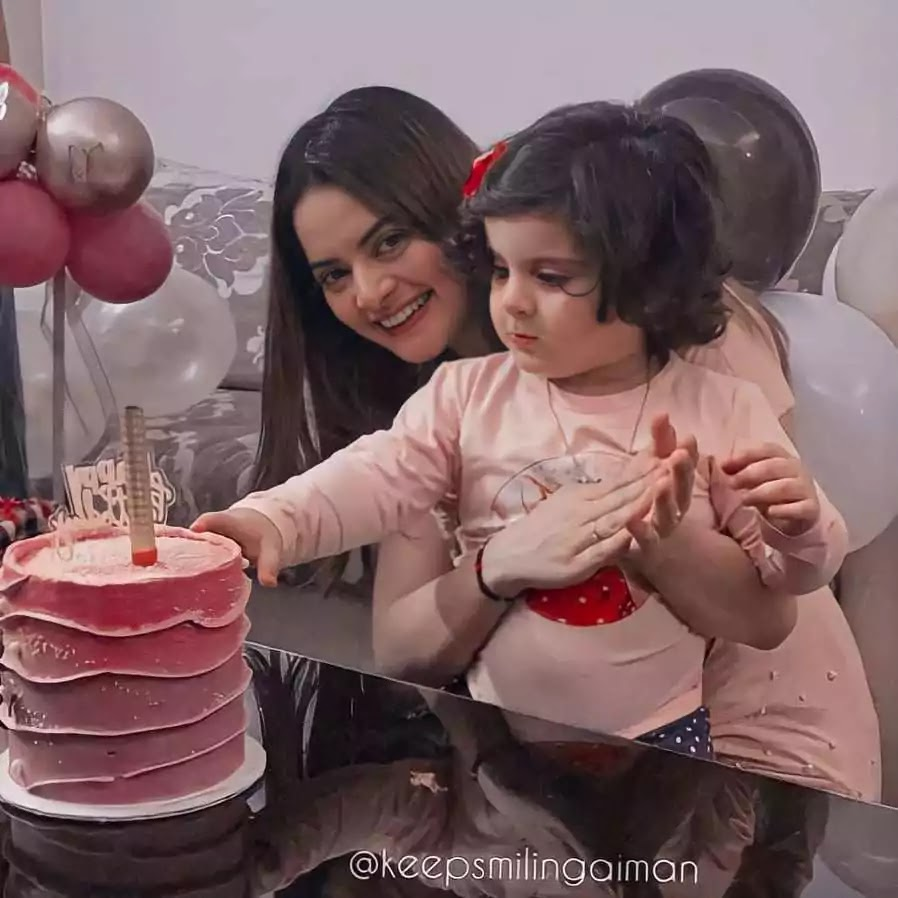 Beautiful Pictures of Aiman Khan Daughter Amal 2nd Birthday Party