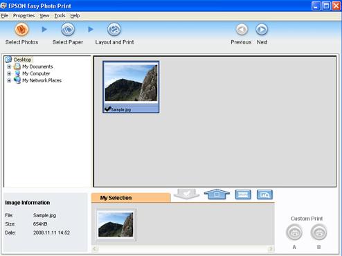 how to use Epson Easy Photo Print