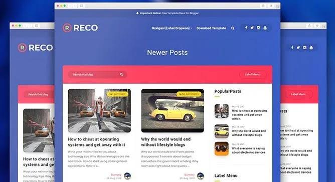 [Free Download] Reco v1.6 – Responsive Premium Blogger Template